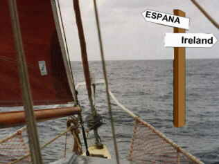 Signpost to Spain (50 degrees North, 10 degrees West)