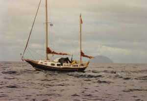 Sunseeker Chapter 3 - Black Swan with Ailsa Craig on the starboard beam